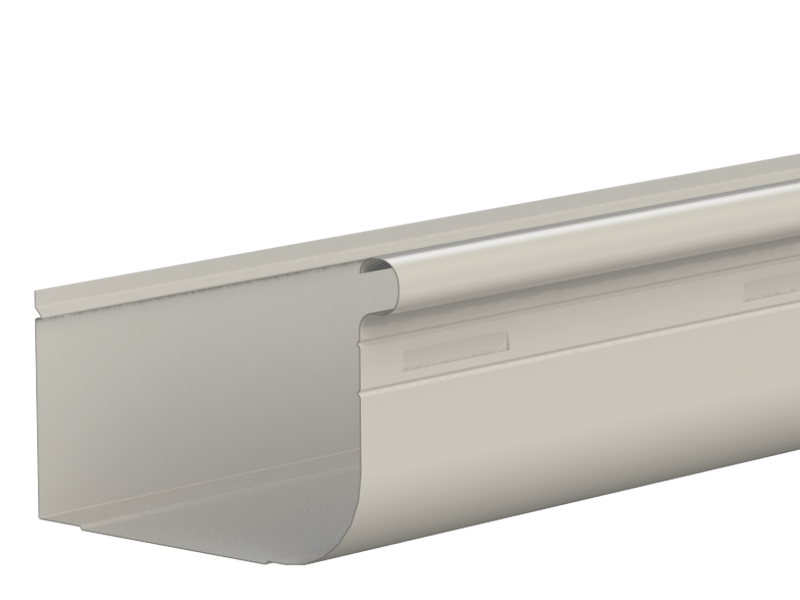 Metroll High Front Quad Gutter Slotted Colorbond