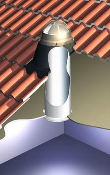 Skydome Skytube 250 To Suit Terracotta Tile
