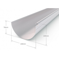 Stratco 150mm Half Round Gutter Slotted Colorbond