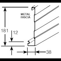 Metroll Metroline Metal Fascia .42 Zincalume