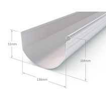 Stratco 150mm Smoothline Gutter Slotted Colorbond