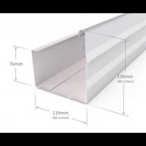Stratco VF Square Gutter Plain Colorbond