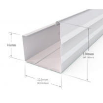 Stratco VF Square Gutter Slotted Zincalume